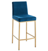 "!nspire Diego 26"" Counter Stool, Blue and Gold Leg"