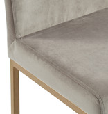 "!nspire Diego 26"" Counter Stool, Grey and Gold Leg"