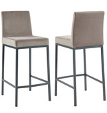 "!nspire Diego 26"" Counter Stool, Grey and Grey Leg"