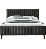 "!nspire Hannah King Size Bed (78""), Charcoal"