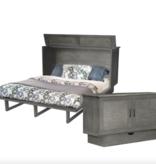 """Sleep Chest Chest Bed with Queen Size (60"""") Mattress Dawson, Gray"""