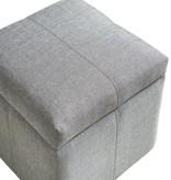 WHi Juno Storage Ottoman, Grey