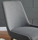 !nspire Mia Side Chair, Dark Grey and Grey Leg