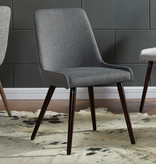 !nspire Mia Side Chair, Dark Grey and Walnut Leg