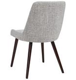 !nspire Mia Side Chair, Light Grey and Walnut Leg