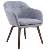 WHi Minto Accent Chair, Grey Blend