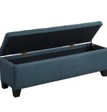 WHi Morgan Storage Ottoman, Grey Blue