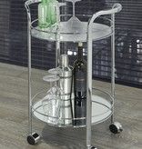 WHi Neema 2 Tier Bar Cart, Chrome