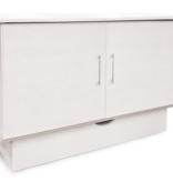 "Sleep Chest Chest Bed with Full Size (54"") Mattress Madrid, White"