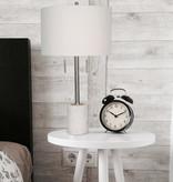 L2 Lighting 28'' Table lamp, White marble