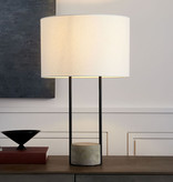 L2 Lighting Table Lamp Concrete Base And Black Frame