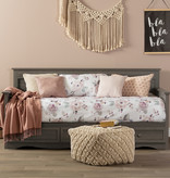 South Shore DreamIt Comforter and Pillowcase Watercolor Floral, Twin, White and Pink