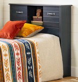 """South Shore Asten Twin Bookcase Headboard (39"""") with Doors, Blueberry"""