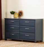 South Shore Asten 6-Drawer Double Dresser, Blueberry