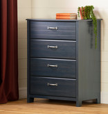South Shore Asten 4-Drawer Chest, Blueberry