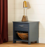South Shore Asten 1-Drawer Nightstand, Blueberry