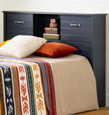 """South Shore Asten Full Size Bookcase Headboard (54"""") with Doors, Blueberry"""