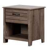 South Shore Asten 1-Drawer Nightstand, Fall Oak