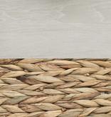 """South Shore Lit queen (60"""") avec paniers de rangement, chêne hivernal et osier, collection Lilak"""