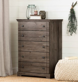 South Shore Lilak 5-Drawer Chest, Fall Oak