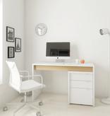 Nexera Chrono 2 pcs Home Office Set, Maple and White