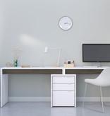 Nexera Chrono Home Office Set, Bark Grey & White