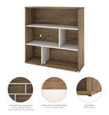 Bestar Fom Asymmetrical Shelving Unit, Rustic Brown and Sandstone