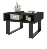 Bestar Lyra End Table, Black Oak