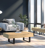Bestar Lyra Coffee Table, Natural Oak