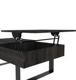 Bestar Lyra Lift-Top Coffee Table, Black Oak