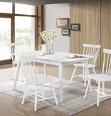 "Titus Dining Table (36"" x 55""), White Solid Wood, Cottage Collection"