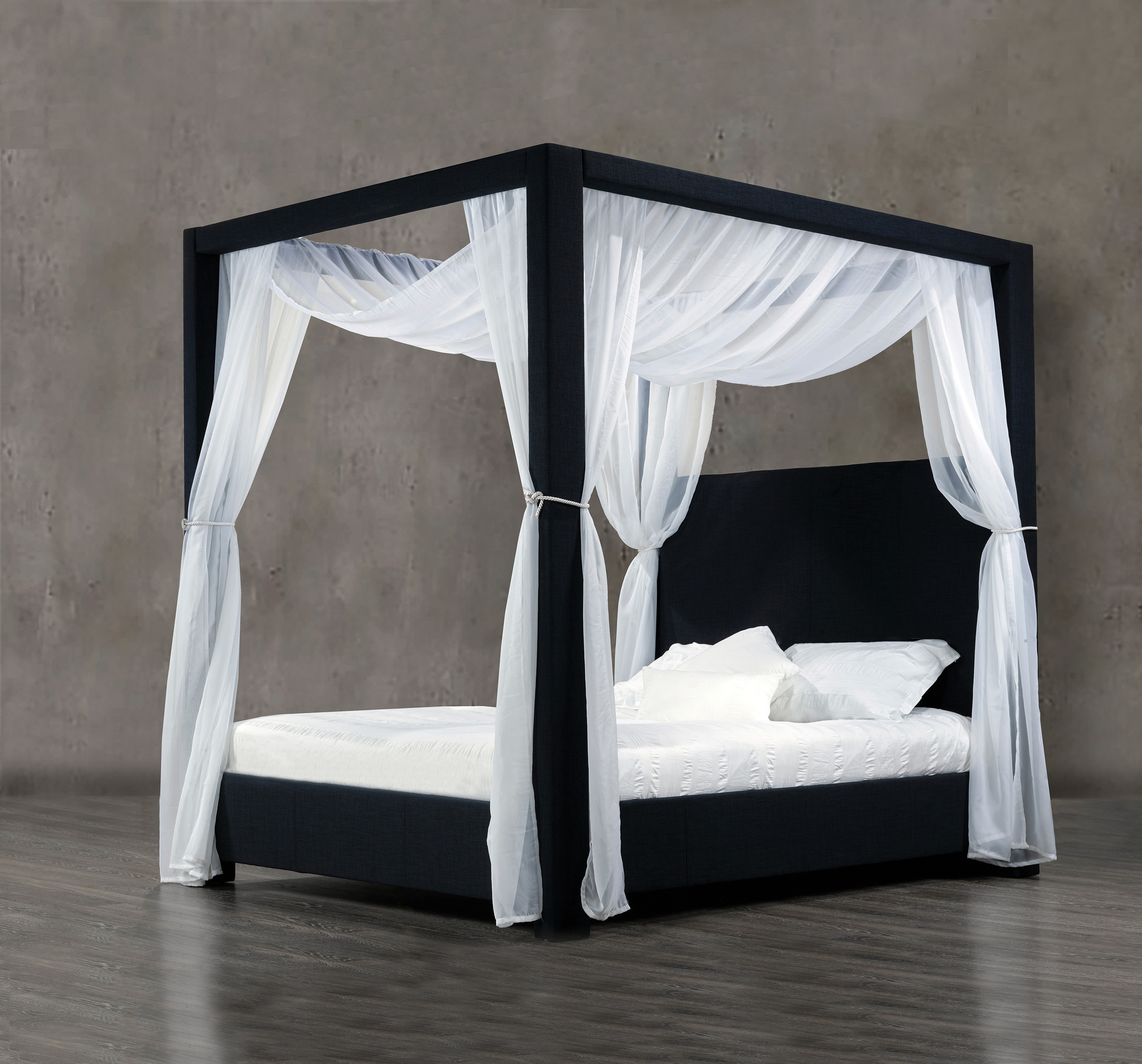Picture of: King Size Canopy Bed 60 Denim M2go