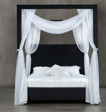 "Rosemount King Size Canopy Bed (60""), Dark Navy Blue Denim"