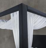 "Rosemount Full Size Canopy Bed (54""), Dark Navy Blue Denim"