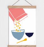 """Catherine Lavoie 12""""x18"""" Les céréales Art Print"""
