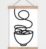 """Catherine Lavoie 12""""x18"""" Noodles Art Print"""
