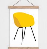 "Catherine Lavoie 18""x24"" I Love Chairs Art Print"