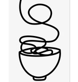 """Catherine Lavoie 18""""x24"""" Noodles Art Print"""