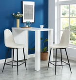 """WHi Onio 26"""" Counter Stool, Beige and Black"""