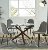 WHi 5pcs Dining Set, Grey