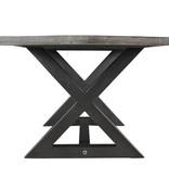 !nspire Table à manger, gris vieilli, collection Zax