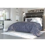 "Bestar Nebula Full (54"") Cabinet Bed with Mattress, Bark Gray"