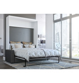 Bestar Nebula Queen Wall Bed and Sofa Set, White & Grey