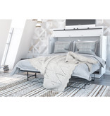 """Bestar Pur Full (54"""") Cabinet Bed with Mattress, White"""