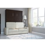 Bestar Pur Queen Wall Bed and Sofa Set, Chocolate & Tan