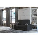 Bestar Lit escamotable queen, unité de rangement et canapé, blanc, collection Versatile