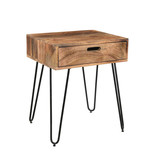 !nspire Jaydo Accent Table in Natural Burnt