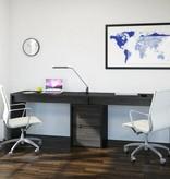 Nexera  Sereni-T Reversible Desk Panel, Black and Ebony