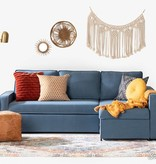 South Shore Live-it Cozy Sectional Sofa-Bed with Storage, Blue Denim