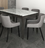 !nspire Bianca Side Chair, Grey and Black